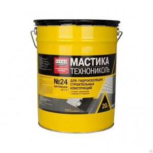 Мастика гидроизоляционная ТЕХНОНИКОЛЬ №24 (ведро 20кг)