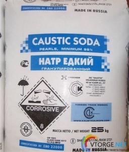 Сода каустическая гранулированная (мешок 25 кг)