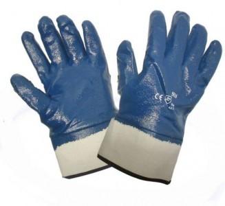 Перчатки МБС нитриловые полный облив, манжет крага