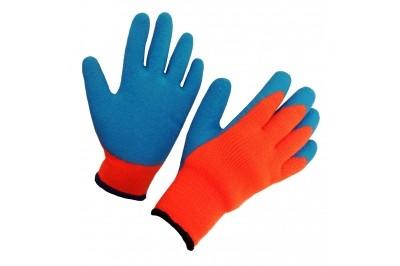 Перчатки стекольщика (красные с синим латексом)