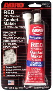 Герметик для прокладок высокотемпературный ABRO RED